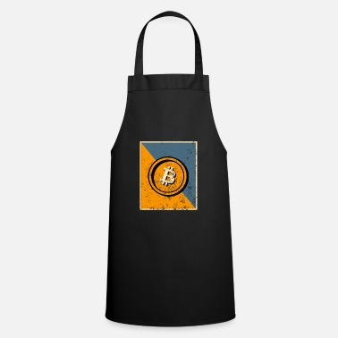 Bad Bitcoin symbol with grunge effect - Apron