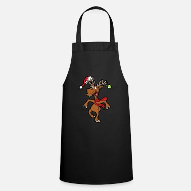 Winter Funny reindeer - Cooking Apron