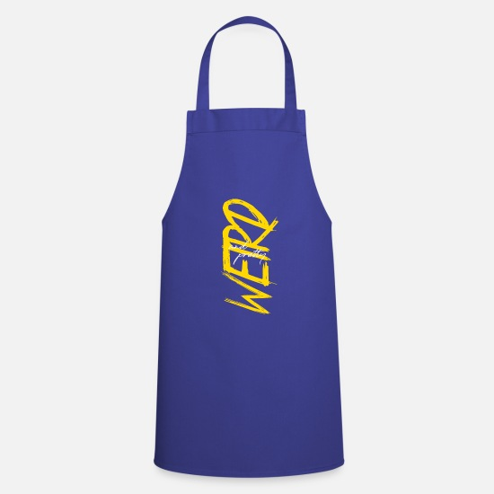 Birthday Aprons - Weird and pretty - Apron royal blue
