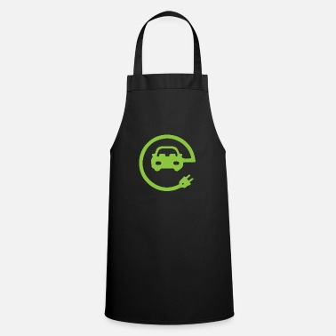 Vehicle Electric car electric mobility electricity gift - Cooking Apron