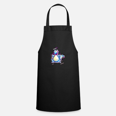 Smelly Crocodile funny 80s retro violet - Cooking Apron