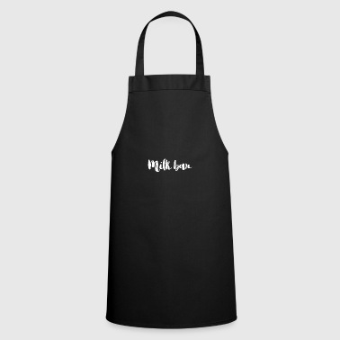 Milk bar font for breastfeeding mom white - Cooking Apron