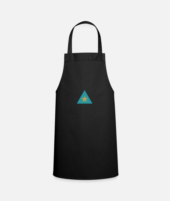 Star Aprons - Triangle star - Apron black