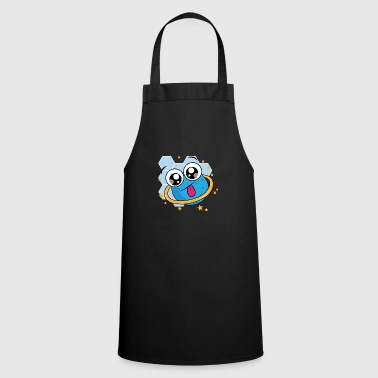 Naughty planet with orbit and stars - Cooking Apron