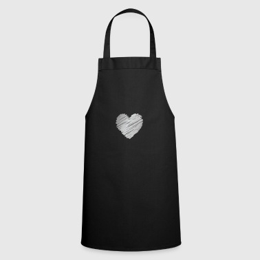 Silver silver heart - Cooking Apron
