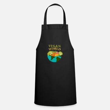 Vegetariano Camisa ecológica • Vegan World • Regalo - Delantal de cocina