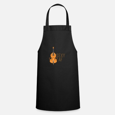 Fiddle Sexy Bass Double Bass Musical Instrument Gift - Cooking Apron