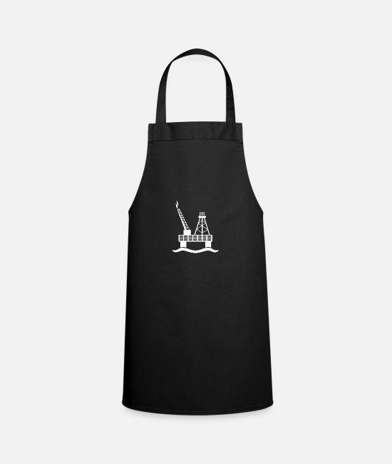 Oil Rig Aprons - An oil rig in the sea - Apron black