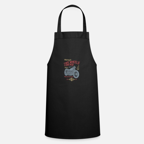 Motorcycle Aprons - TWO WHEELS - Apron black