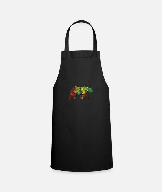 Idea Aprons - Brown bear. bear - Apron black