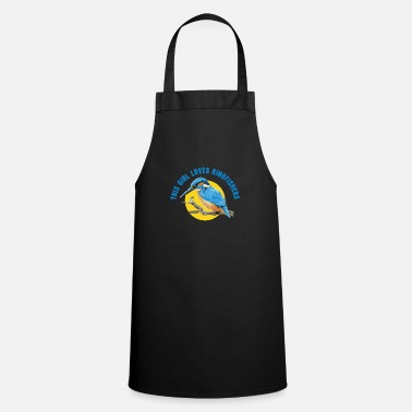 Humour This Girl Loves Kingfishers - Apron