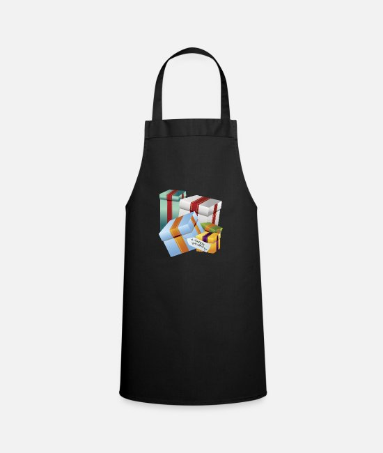 Candles Aprons - Birthday Presents - Apron black