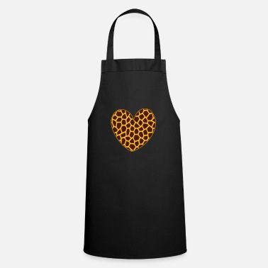 Pattern Giraffe heart pattern giraffe pattern Giraffes pattern - Cooking Apron
