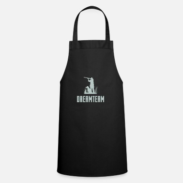 Deer Hunter with Dog Dreamteam // Gift - Cooking Apron