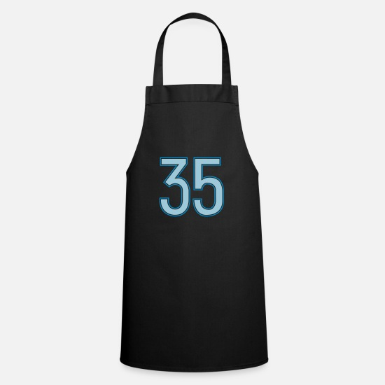 35 Aprons - 35, Fünfunddreißig, Thirty Five, Pelibol ™ - Apron black
