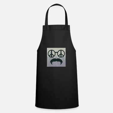 Glass Underwear great hipster beard beard glasses love peace hippie - Apron