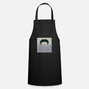 Glass Underwear Hipster beard beard in the forest mustache - Apron