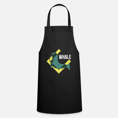 Wale Seiwal whales Orka river dolphin mammal gift - Cooking Apron