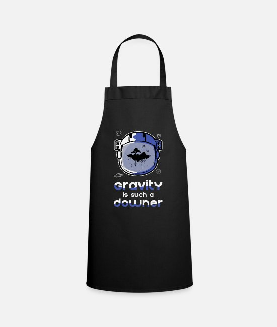 Astronaut Aprons - Gravity Gravity Funny - Apron black