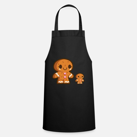 Love Aprons - gingerbread - Apron black