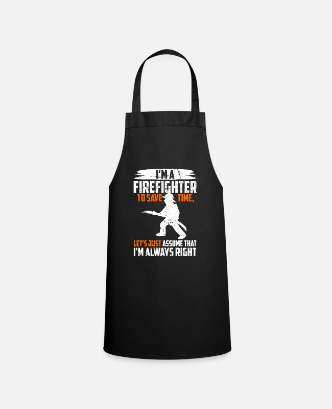 Occupation Aprons - I'm a Firefighter - Fireman Fire Brigade Fire Gift - Apron black