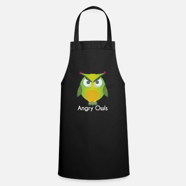 Owl Owl - forest owl - owls - Cooking Apron