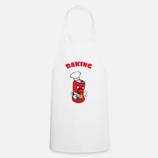 "Hot Aprons - Cute and fabulous ""Baking Soda"" tee design. Makes - Apron white"