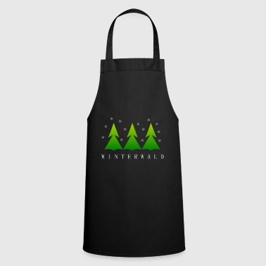 Brand Winter forest snowfall Christmas winter fir tree - Cooking Apron