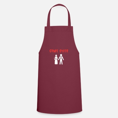 Party Wedding Newlyweds Game Over Bride Groom - Apron