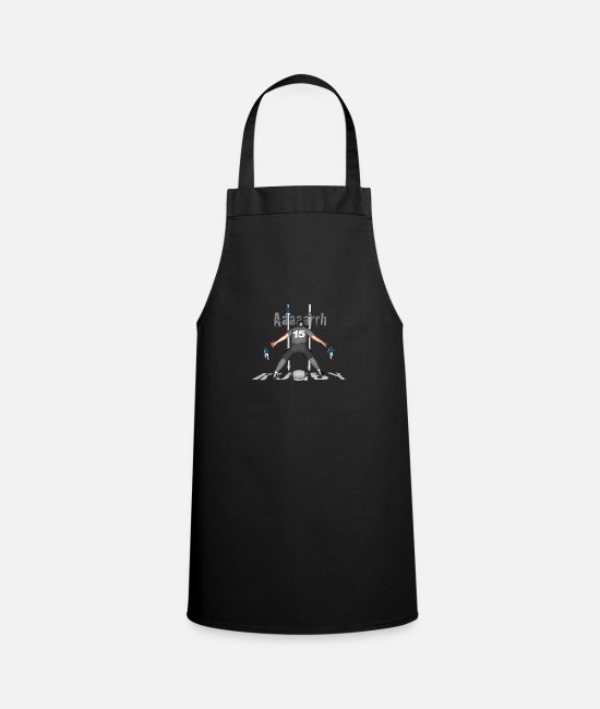 Lyon Rugby Toulousain Aprons - RUGBY 15 players gray - Apron black