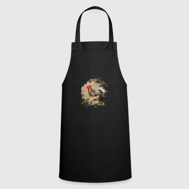 Proud rooster in the yard - Cooking Apron