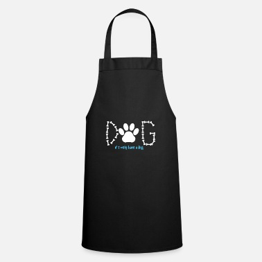 Dog Lover Dog lover shirt, dog paw shirt, gift - Cooking Apron