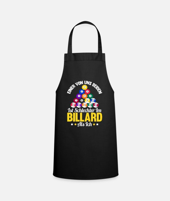 Ball Aprons - Funny saying billiard cue billiard ball gift - Apron black
