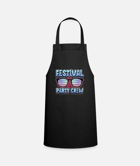 Music Aprons - Music open air festival party crew gift geek - Apron black