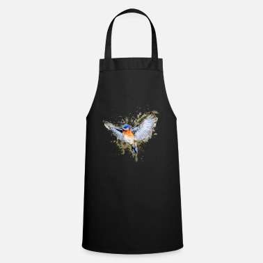 Watercolor Watercolor Bird | Nature Watercolor and Watercolor - Apron