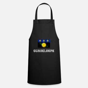 French Flag Guadeloupe flag Gwda gift - Cooking Apron