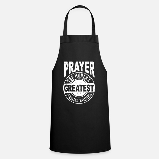 Easter Aprons - Wireless connection gift priests god - Apron black