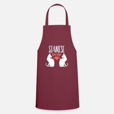 Siamese mom cats mom siamese cat gift - Apron