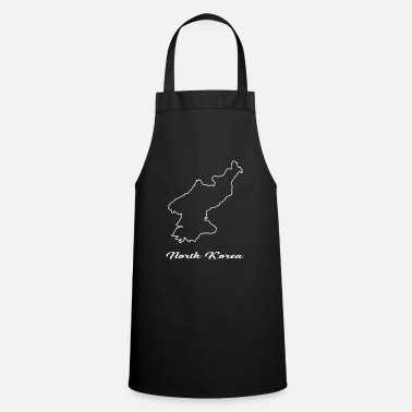 Maps North Korea map map - Cooking Apron