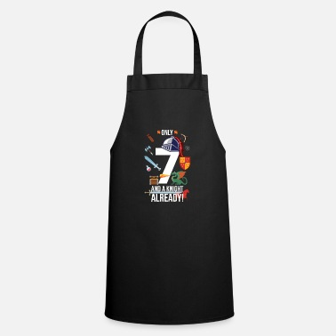 Nephew 7th Birthday Boy Only 7 And A Knight Already - Cooking Apron