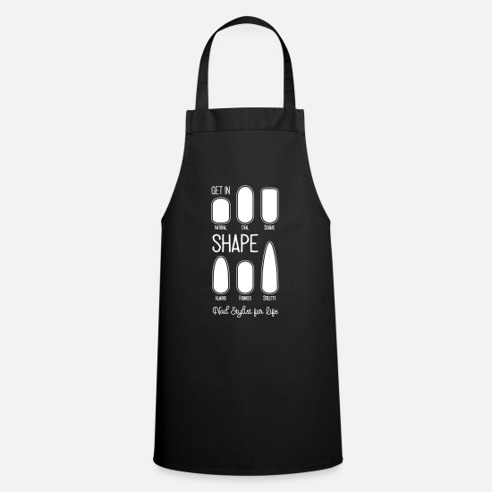 Nails Aprons - Get in Shape | Nail Shapes - Apron black