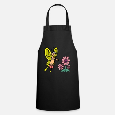 Stand Butterfly, flower, insect, forest, meadow, Cool - Cooking Apron