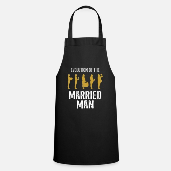 Engagement Aprons - Evolution of the Married Man Fun Gift Wedding - Apron black