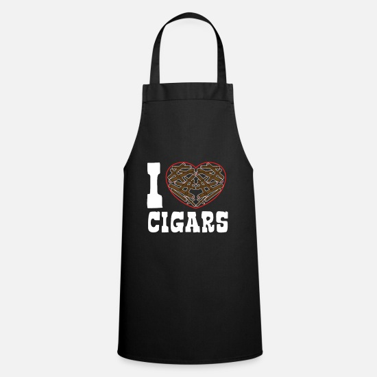 Birthday Aprons - I love Cigars - Apron black