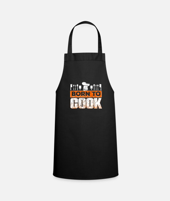 BBQ Aprons - Cook cooking kitchen cooking baking - Apron black