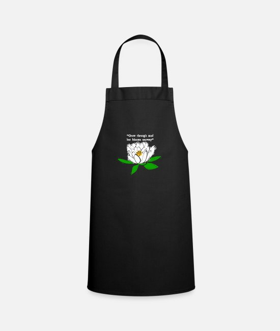 Love Aprons - water lily - Apron black