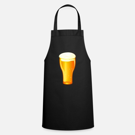 Alcohol Aprons - Beer beer glass drink pils alcohol Hefeweizen - Apron black
