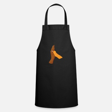 Fist High Five with Cat Black Hand - Apron