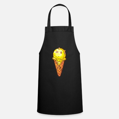 Beach Retro vintage grunge style ice cream - Cooking Apron