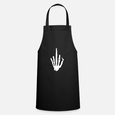 Middle-finger Skeleton Finger, Middle Finger - Cooking Apron